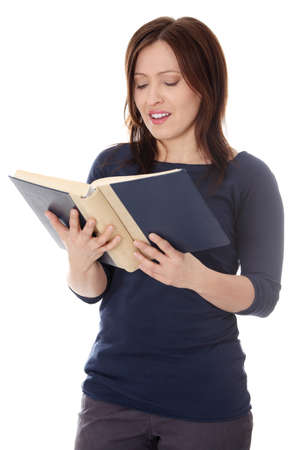 Mature student woman with book Stock Photo - 13155698