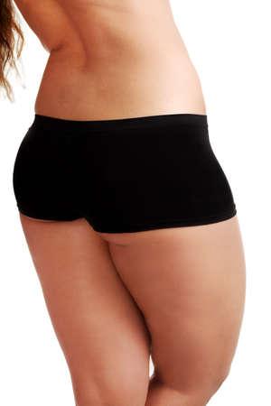 Big female body isolated on white background  photo