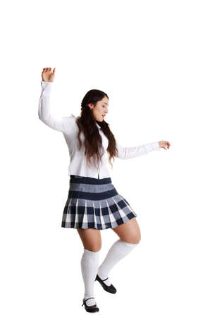 irish ethnicity: Female tap dancer, isolated on white