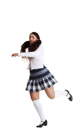 Female tap dancer, isolated on white photo