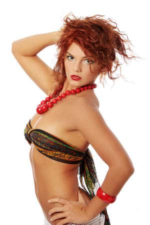 Big redhead closeup