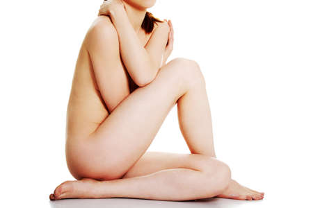 naked lady: Artistic shot a beautiful naked woman , isolated on white background