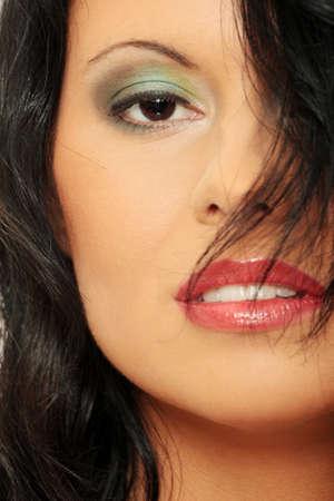 Beautiful young caucasian woman portrait  photo