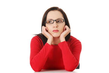 Young woman with sad expression on face Stock Photo - 16662671