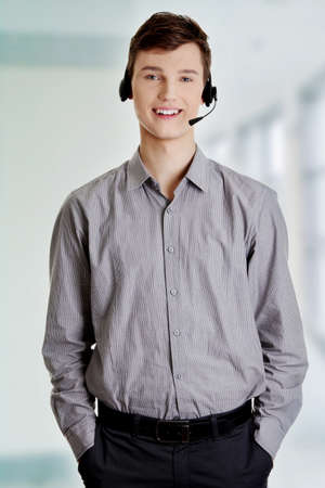 Charming customer service representative with headset on Stock Photo - 16676145