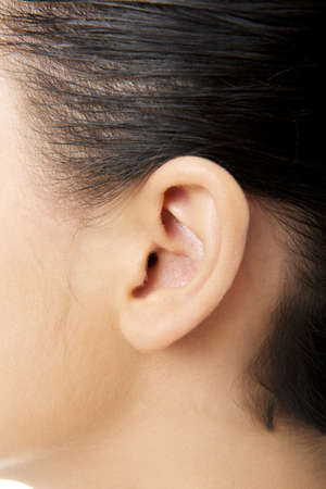 Young woman ear closeup  photo
