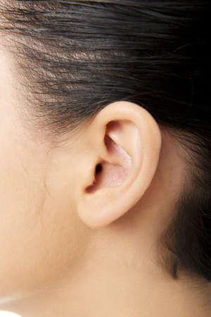 Young woman ear closeup Stock Photo - 16674257