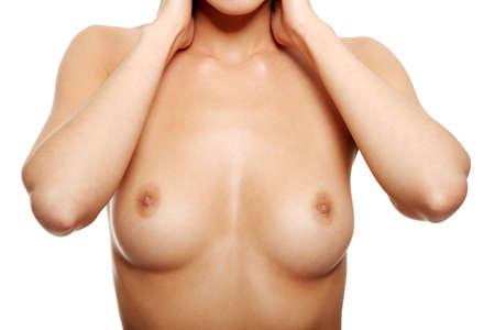 breasts erotic: Sexy body nude woman. Naked sensual beautiful girl.