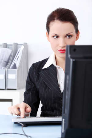 Attractive business woman at work