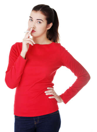 e pretty: Young woman smoking electronic cigarette  ecigarette ,  Stock Photo