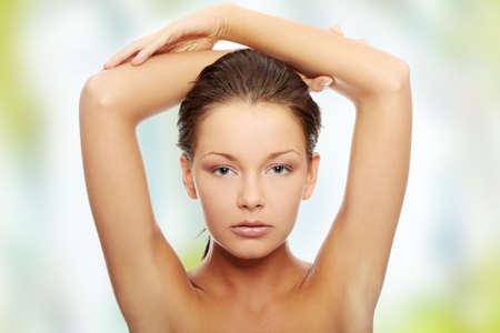 Portrait of a beautiful female model photo