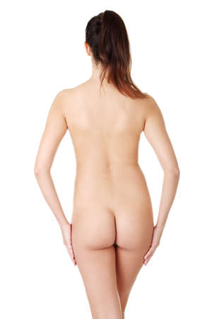 Young naked woman on white background.  Stock Photo - 16772364