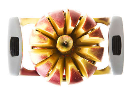 slicer: Fresh red apple sliced with slicer