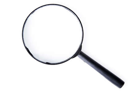 Magnifying glass isolated on white  Stock Photo - 18512969