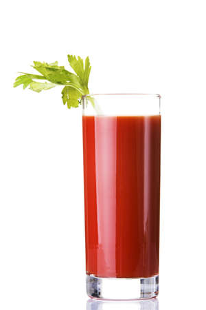 Tomato juice, bloody mary isolated on white photo
