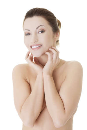 Beautiful spa woman, with healthy clean skin photo