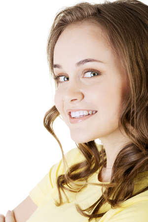 isoalated: Teen girl portrait,  isoalated on white background