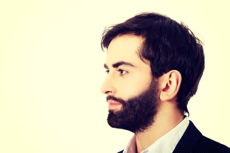 Profile picture of handsome businessman.