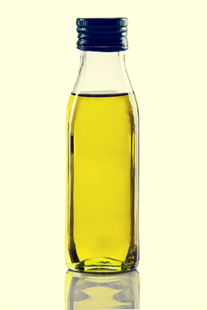 Olive oil bottle isolated on white backgroud.