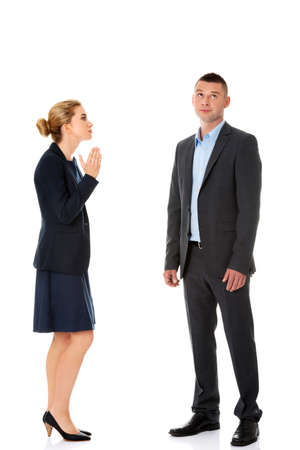Business fight concept. Business people have conflict Imagens - 83404778