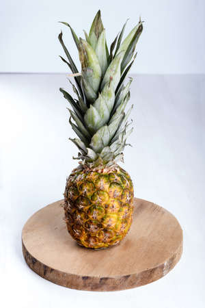 Fresh juicy pineapple on the table.