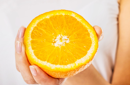 Juicy orange fruit Stock Photo