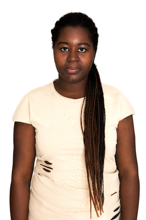 Casual african woman Stock Photo