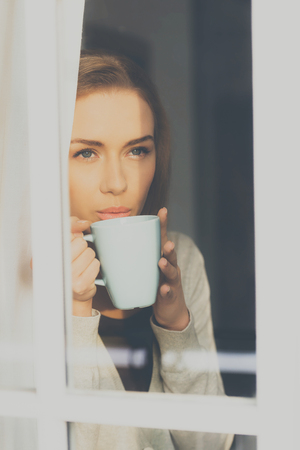 Domestic relax with coffee