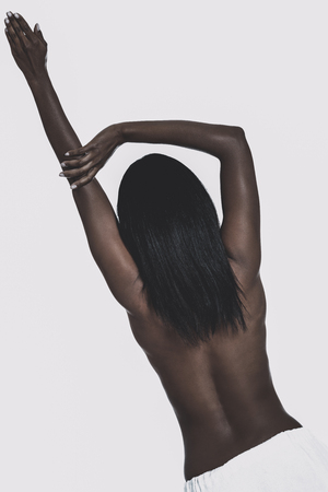 Sexy back of black woman