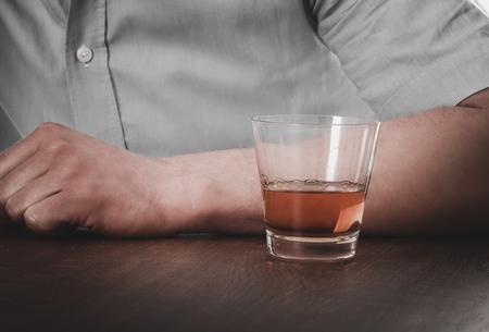 Man drinking alcohol