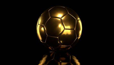 Gold socer ball