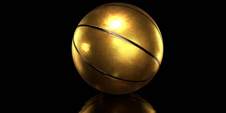 Gold basketball ball