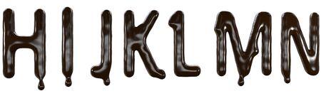 Chocolate font food type. 3d 版權商用圖片