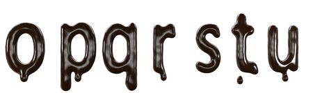 Chocolate font food type. 3d Reklamní fotografie