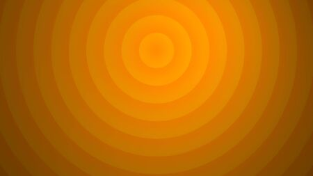 Orange colorfull abstract circular background. 3d render