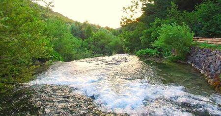 Waterfall in Plitvice - Croatia 版權商用圖片