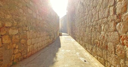 Walking on old city of Dubrovnik