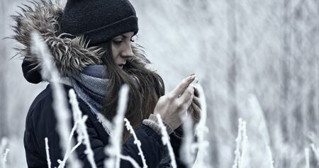 Sharing with feelings or thoughts, in winter time