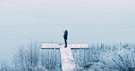 Winter selfie outside