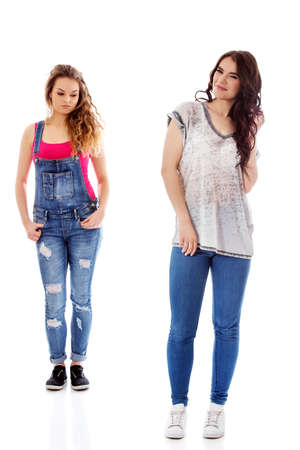 Two casual girls Stock Photo