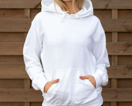 White hoodie with copy space
