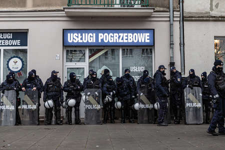 13 december 2020 - Warsaw, Poland - anti-government protests in the streets of the capital