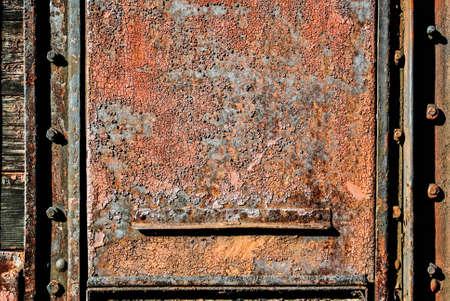 scraped: Scraped rusty metal
