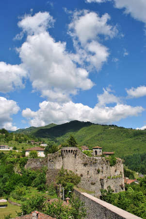 fortification: Fortification in a small village in Tuscany Stock Photo