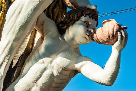 allegoric: Paper-mache sculpture