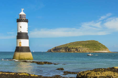Trwyn Du Lighthouse and Puffin Island(Wales) photo