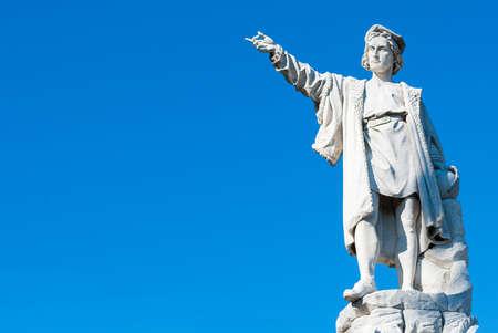 Statue of Cristopher Columbus Stock Photo