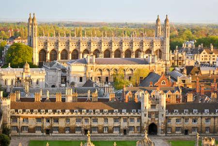 Weergave van Cambridge  Stockfoto