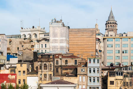 urban decline: Chaotic district of Istanbul Stock Photo