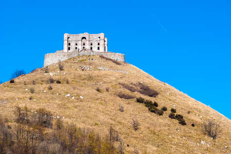 diamante: Disused military fortress near Genoa, called Forte Diamante Stock Photo